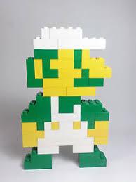 lego super mario brothers pixel art 3d 2d figure luigi nes nitendo