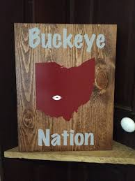 ohio state wood sign buckeyes buckeye nation home decor