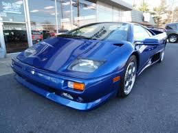 blue lamborghini diablo 1999 lamborghini diablo sv coupe in frederick md za9du01b7xla12265