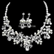 bridal pearl necklace sets images Eurpean style handmade imitated pearl bridal jewelry sets crystal jpg