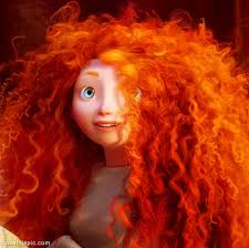 big curly hair brave orange hair curls disney big curly