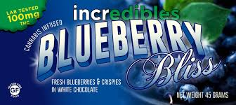 incredibles edibles blueberry bliss bar wherijuana recommends colorado s