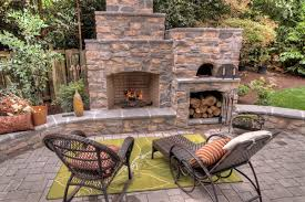 Outdoor Fireplace Patio Designs Outdoor Fireplace With Pizza Oven Traditional Patio Portland
