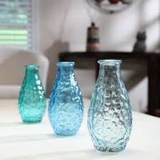 Turquoise Glass Vase Hosley Elegant Expressions Blue Glass Vases 3 Pack Walmart Com