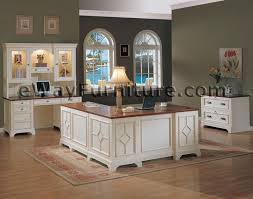 Executive Desk And Credenza White Office Furniture Collections Distressed White Executive