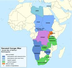 Africa Map Countries by File Second Congo War Africa Map En Png Wikimedia Commons