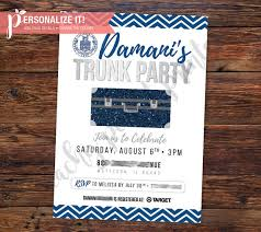 going away to college invitations trunk party invitation going away college high school