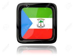 Guinea Ecuatorial Flag Square Icon With Flag Of Equatorial Guinea 3d Illustration Fotos