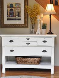 Small Entry Table Furniture White Shabby Chic Entry Table Wooden Table Narrow Table