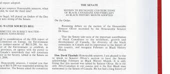 black history month writing paper parliamentary treasures extract from the debates of the senate march 4 2008 page 905