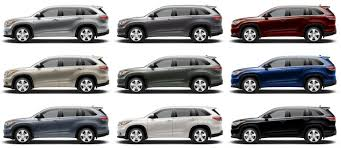 colors for toyota highlander 2015 toyota highlander hybrid review