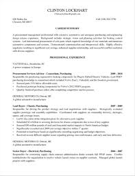 exle of a resume summary insssrenterprisesco cover letter purchase manager purchasing cover