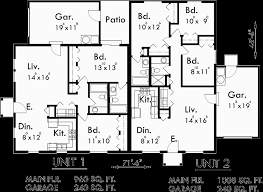 house plans one level single story duplex house plan corner lot duplex plans d 392