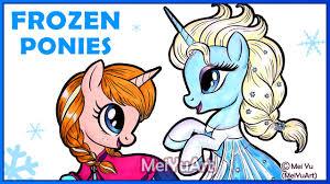 frozen pony anna elsa drawing meiyuart