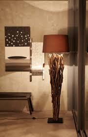 lampe de chevet montagne lampe bois flotté lampadaire et suspension par la nature