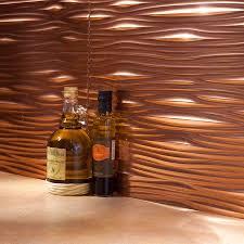fasade backsplash waves in polished copper