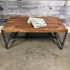 Acacia Wood Coffee Table Industrial Acacia Coffee Table Rustic Furniture Outlet