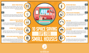 what to do with extra living room space 10 space saving tips for small houses infographic nest bend