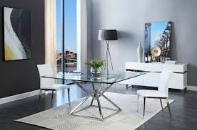xander modern square glass dining table modrest xander modern square glass dining table