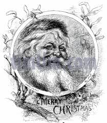free drawing of christmas card santa2 from the category christmas