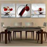 Dining Room  Nice White Rectangle Modern Leather Dining Room - Dining room paintings