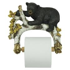 Animal Toilet Paper Holder Black Bear Toilet Paper Holder 1160 Buffalo Trader Online