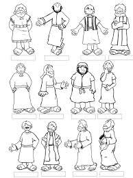 jesus disciples coloring page cecilymae