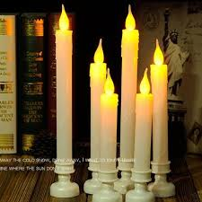 battery operated flameless flickering led taper candles light 8 10