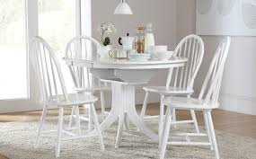 modern white round dining table set for 4 eva furniture throughout