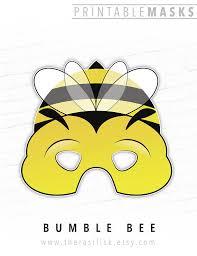 printable halloween mask photo booth prop printable bee