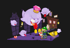 haunted mansion clipart penelope love prints u2014 luigi u0027 haunted mansion and king boo