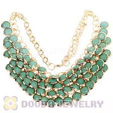 necklace charms wholesale images Turquoise chunky multi layers bubble bib statement necklace jpg