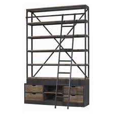 Metal Bookcase Cuthbert Christy Ladder Bookshelf Industrial Shelving City Home
