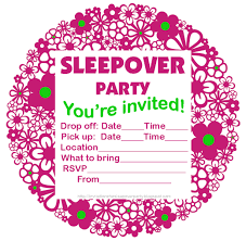 slumber party invitations lilbibby com