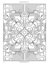 54 coloring geometric images coloring books