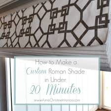 to make a roman blind in under 20 minutes