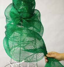 mardi gras outlet deco mesh deco mesh christmas tree made with a tomato cage tutorial mesh