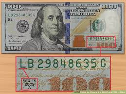 3 ways to check if a 100 dollar bill is wikihow