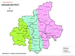 India Regions Map by Hassan District Region Map Pdf Download Master Plans India