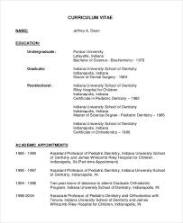 Orthodontist Resume Examples by Dentist Curriculum Vitae Templates 8 Free Word Pdf Format