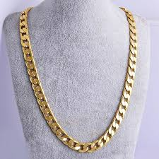 man gold necklace wholesale images Gold color twisted singapore chain 24inch 7mm gold color necklace jpg
