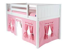 Bunk Bed Tents And Curtains Maxtrix Low Loft Bed With Underbed Curtain