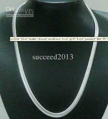 silver chain necklace snake images Wholesale 925 silver flat snake chains necklace cool gift boys jpg