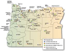 State Map Of Oregon by Extension Service Scholars International Programs Oregon State