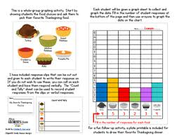 day freebie thanksgiving dinner graphing activities