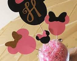 minnie mouse centerpiece etsy