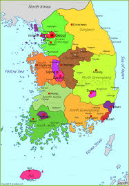 Map Of World Korea by South Korea Map Map Of South Korea Annamap Com