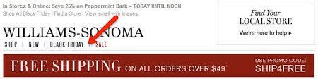 williams sonoma black friday your email navbar the gps to customer u0027s online destination