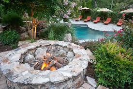 Wood Burning Firepit Wood Burning Pit Landscape Traditional With Backyard Brick
