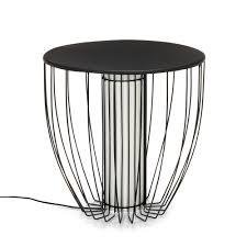bout de canapé alinea bout de canapé lumineux en acier noir nouveautés promos